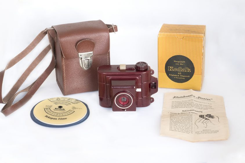 Kodak Deko Pionier set, with case, box, instruction leaflet and exposure disk