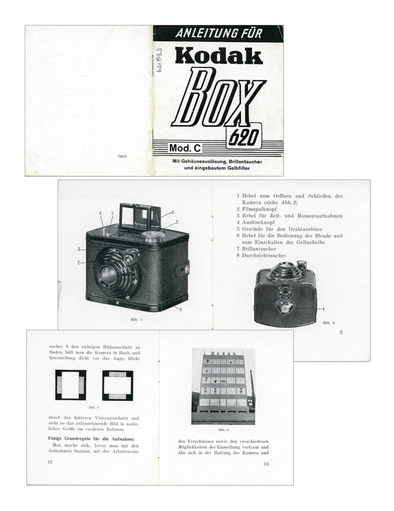Manuale della Kodak Box 620 C